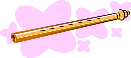 rehearse: Illustration of flutes in pink background