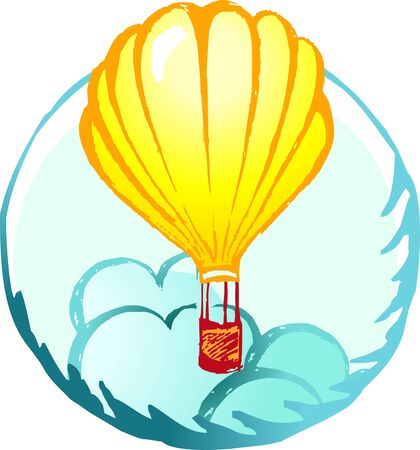 untroubled: Illustration of a hot air balloon in air