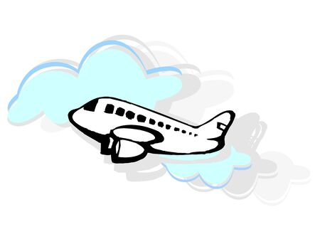 aviations: Illustration of an aeroplane in light background