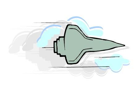 warhead: Illustration of a rocket