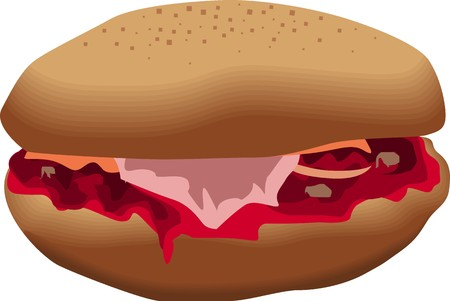 Illustration of cheeseburger illustration