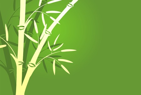 Illustration of trees in a green color background illustration