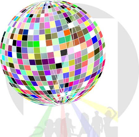 glob: Illustration of color globe with white background