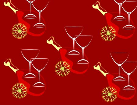 Illustration of wine glasses with red back ground Stock Illustration - 4284504