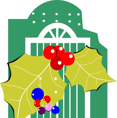 flourishing: Illustration of balloons with leaf with color Stock Photo