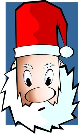 Illustration of a Santas hat and walking stick illustration