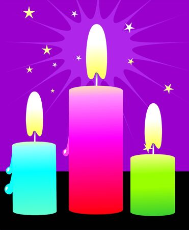 glower: Illustration of a candle lighted