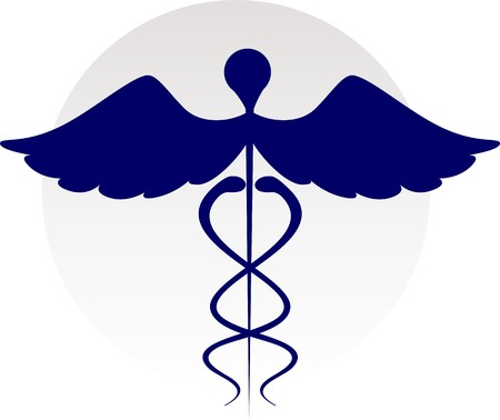 medical logo: Illustration of medical logo in color shadings Stock Photo