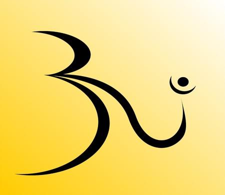 shakti: Illustration of Om in bright colour  Stock Photo