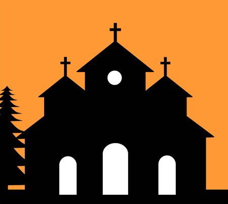 almighty: Illustration of a Christian church