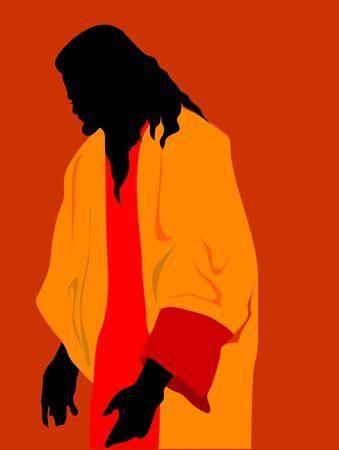 crucification: Illustration of Jesus Christ