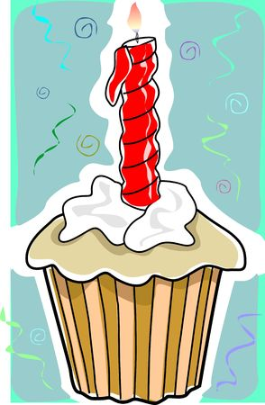 Illustration of birthday in color background illustration