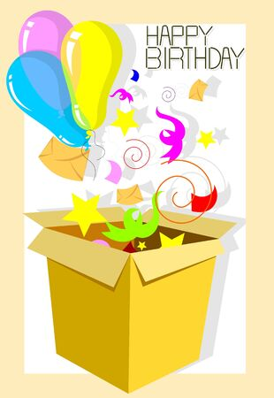 Illustration of a basket of giftboxes Stock Illustration - 4603847