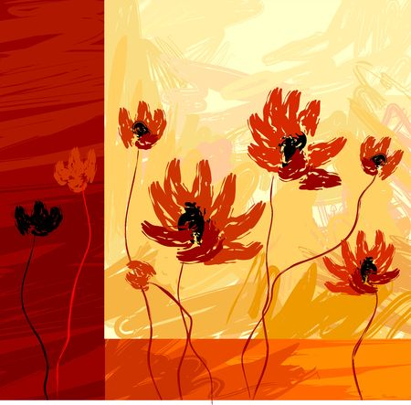 Digital painting of imagine design and flower Stock Photo