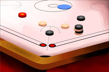 Digital paintings of coin board with game