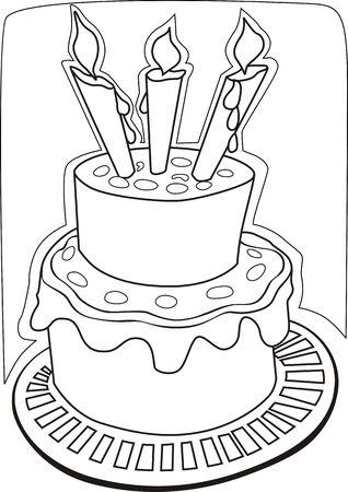 public celebratory event: Illustration of candlelight and celebration cake