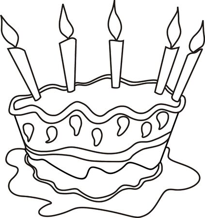public celebratory event: Illustration of candle light and cake with background