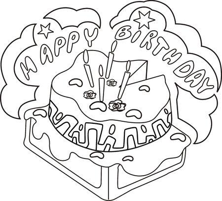 public celebratory event: Illustration of celebration cake, nuts and candle light Stock Photo
