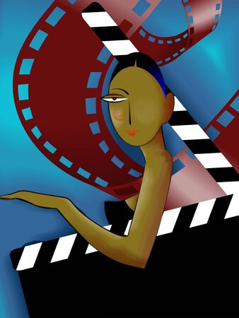 Illustration of woman, clip-art and film role