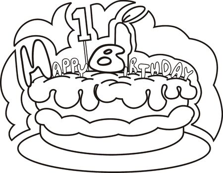 public celebratory event: Illustration of decorative cake and candle light