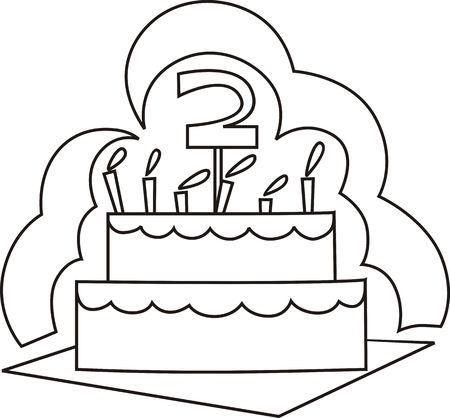 public celebratory event: Illustration of celebration cake, candle light and number