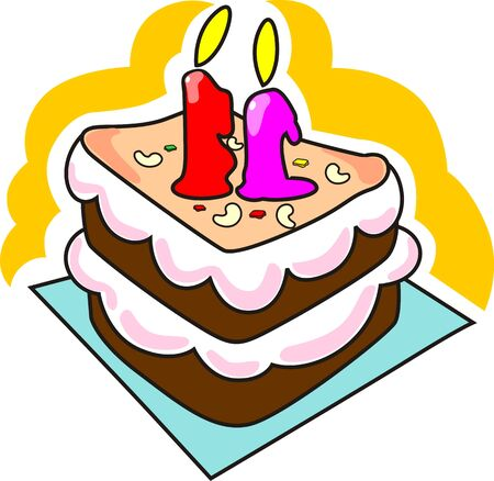 public celebratory event: Illustration of candles lights, nuts and cake