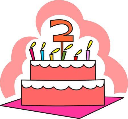 public celebratory event: Illustration of celebration cake and candle light