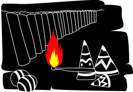 fire crackers: Illustration of fire crackers, toys and fire