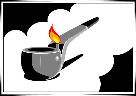 fire crackers: Illustration of fire crackers match stick and spoon