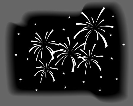 Illustration of fire crackers and colourful light illustration