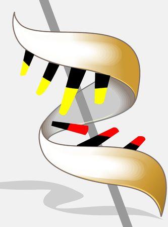 Illustration of spring pattern in DNA model