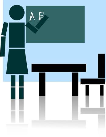 salle classe: Illustration of teacher teaching in the class room