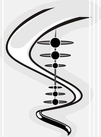 Illustration of silhoutte DNA model illustration