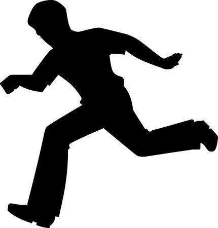 Illustration of boy running to the exercise illustration