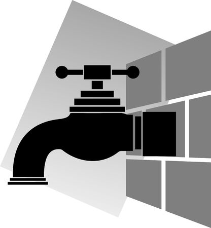 fitting in: Illustration of wall fitting in to the tap