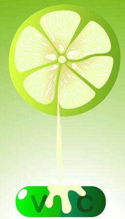 sap: Illustration of lemon sap dropping to the bottom