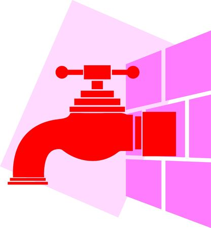 Illustration of wall fitting in to the tap