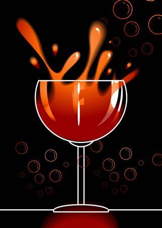 Illustration of goblets of drinks   illustration