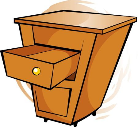 movable: Illustration of  wooden moving table