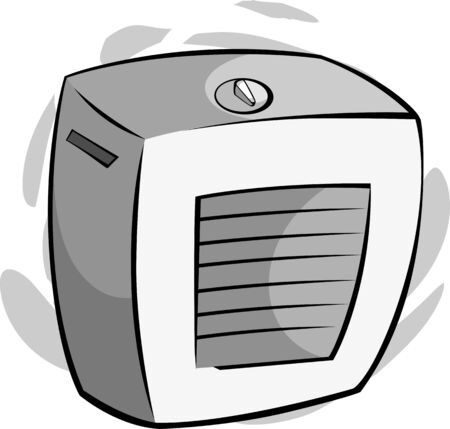cooler: Illustration of cooling system with air cooler