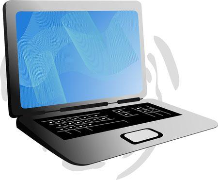 key board: Illustration of laptop with key board