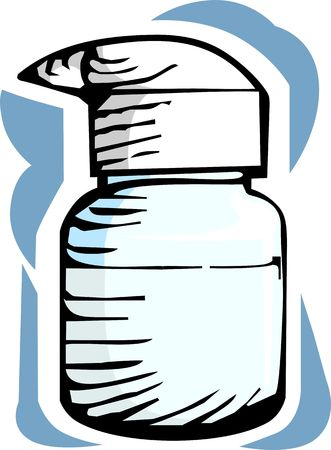 eyedropper: Illustration of medicine with eye drops