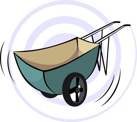 wheel barrow: Illustration of  Wheel  barrow with yellow handle