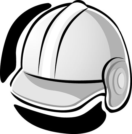 Illustration of working equipment with yellow  hat  illustration