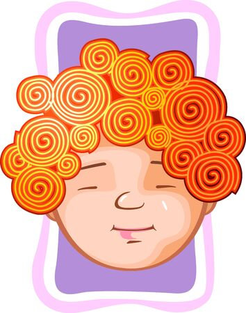 crisp: Illustration of fashion with crisp hair