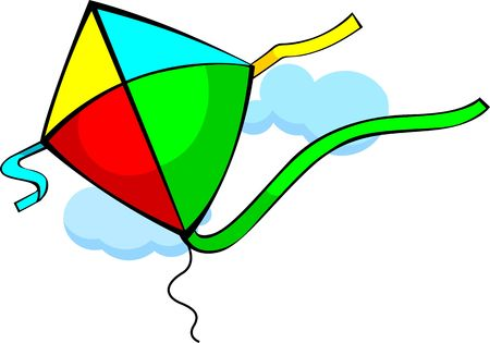 Illustration of colourful kites  illustration