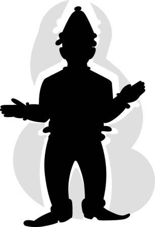 Illustration of joker with colourful background  illustration