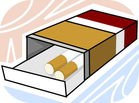 injurious: Illustration of cigarette with packet