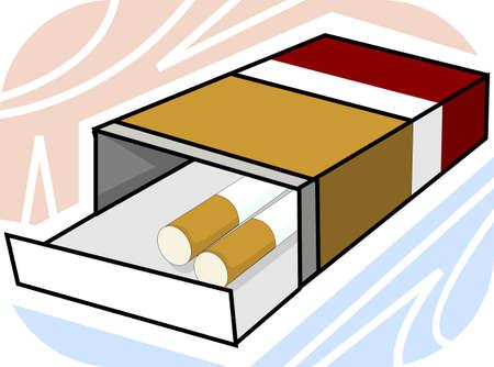 injurious: Ilustraci�n de cigarrillos con paquetes  Foto de archivo