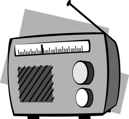 Illustration of new technology with radio  illustration